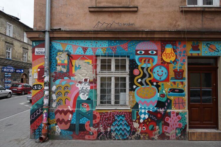 Grafiti in Krakau zeigt sich sehr farbenfroh