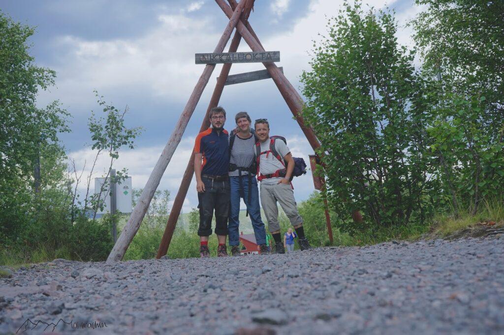 Gruppenfoto am Ausgang Nikkaluokta