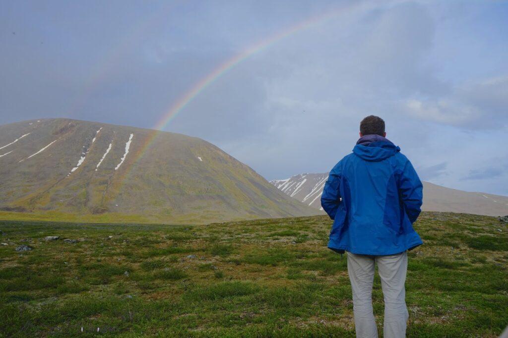 Regenbogen nach Sturzregen
