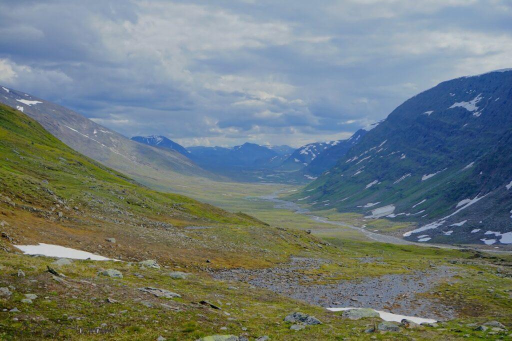 Tiefe Täler hohe Berge das ist der Kungsleden