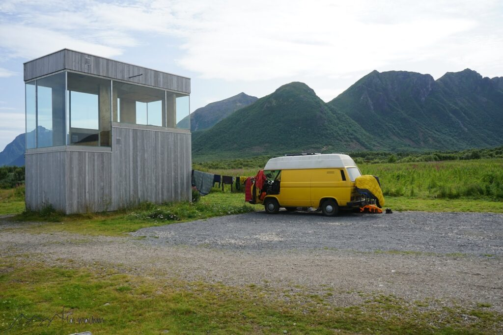 Roadtrip Lofoten: Stellplatz auf den Lofoten am Meer