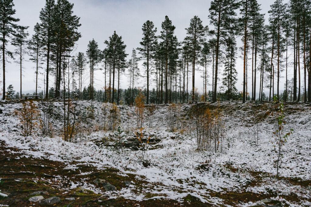 Meteoriten Krater Schweden