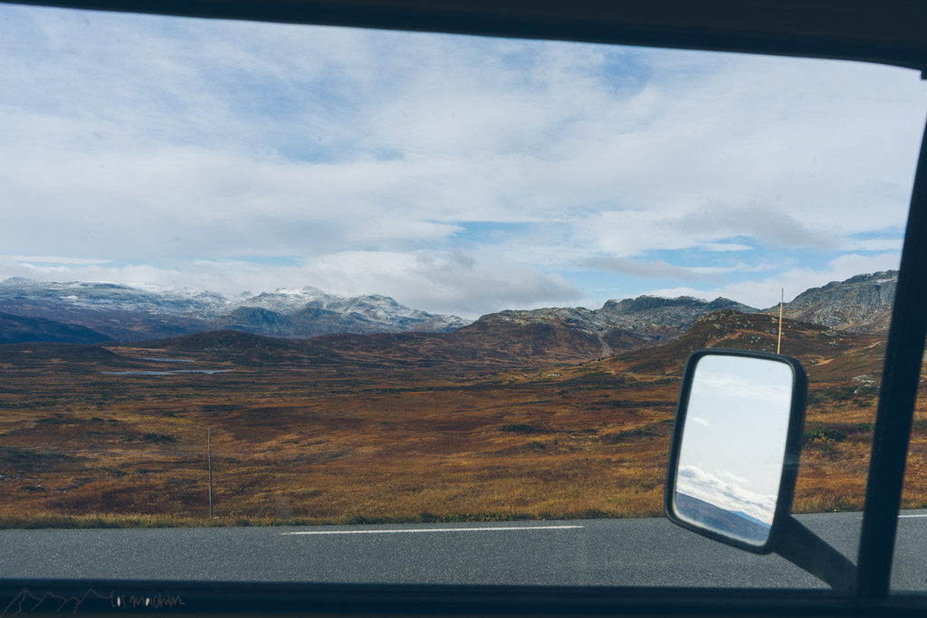 Rückblick aus dem Seitenfenster