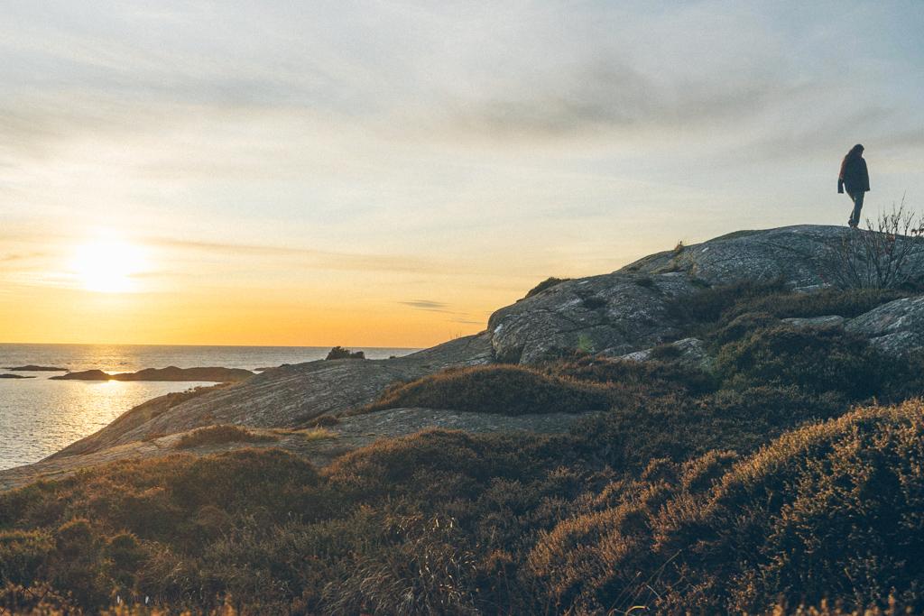 Lotte an der schwedischen Küste